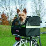Hundefahrradkorb für den Gepäckträger
