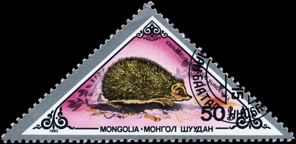 Daurischer Igel Steppenigel auf Briefmarke
